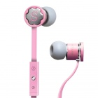 MPINS FITS In-Ear Stereo Headphones w/ Microphone & Volume Control for iPad/iPod/iPhone - Pink