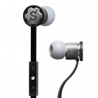 MPINS FITS In-Ear Stereo Headphones w/ Microphone & Volume Control for iPad/iPod/iPhone - Black