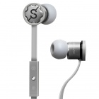 MPINS FITS In-Ear Stereo Headphones w/ Microphone & Volume Control for iPad/iPod/iPhone - Grey