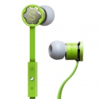 MPINS FITS In-Ear Stereo Headphones w/ Microphone & Volume Control for iPad/iPod/iPhone - Green