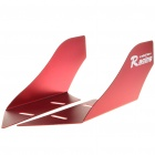 Cool Universal Car Decorative Front/Rear Wind Fins - Red (Pair)
