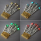 6-Mode Red/Blue/Green 3x5-LED Light Flashing Decoration Glove (1-Glove / 2 x CR2032)