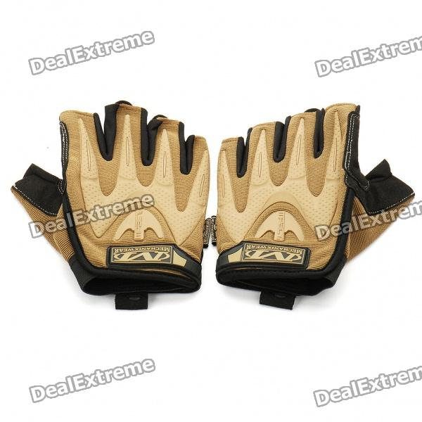 Vietnam Mechanix M-pact Tactical Half Finger Gloves - Coyote Brown (XL-Size/Pair)
