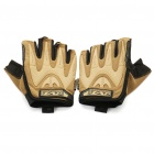 Vietnam Mechanix M-pact Tactical Half Finger Gloves - Coyote Brown (L-Size/Pair)