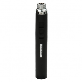 Pen Style Windproof Butane Jet Torch Flamethrower Lighter with Easy-adjust Switch - Black