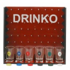 Drinko Shot Drinking Wine Table Game Set - Black + Red + Transparent