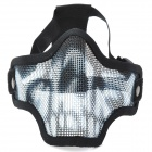 Cool Improved Design Outdoor Mouth Protection Metal Mesh Shield - Black + White