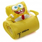Cute SpongeBob Style Children Height Gauge with Hang Rope + Photo Pockets - Yellow + White