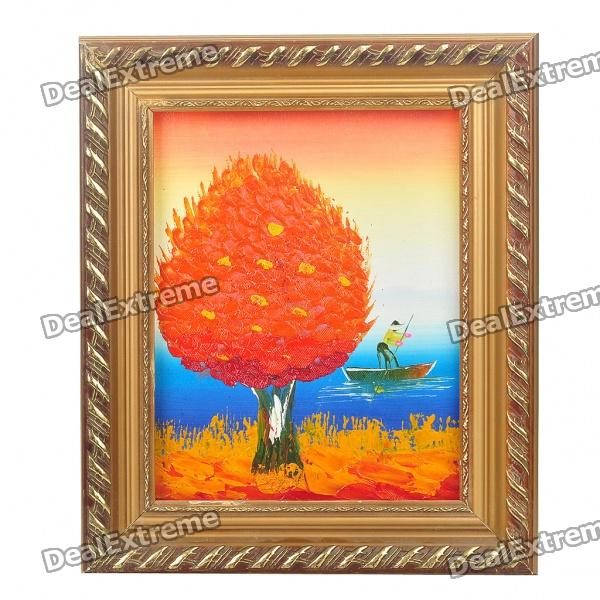 Handmade Hand Painted Oil Painting with 2cm Wooden Frame - Summer Tree
