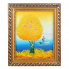 Handmade Hand Painted Oil Painting with 2cm Wooden Frame - Autumn Tree