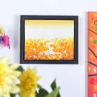 Handmade Hand Painted Oil Painting with 4cm Thick Wooden Frame - Autumn Lotus