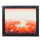 Handmade Hand Painted Oil Painting with 4cm Thick Wooden Frame - Summer Lotus