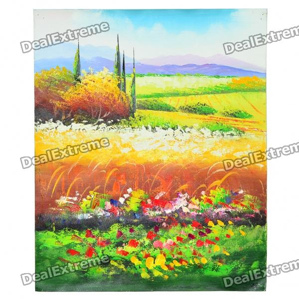 Hand Painted Oil Painting - Plain Landscape