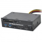 "5.25"" Media Dashboard Front Panel PCI-E to 2 x USB 3.0 + SATA + eSATA + Card Reader + Power Combo"