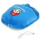 Cute Super Mario Pattern USB Powered Plush Fabric Feet Warmer Cushion - Blue
