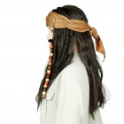 Halloween Costume Caribbean Pirate Jack Sparrow Wig - Black + Brown