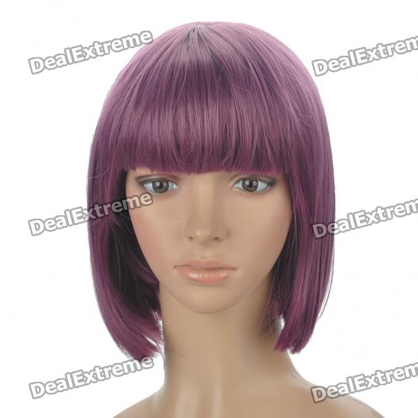 Fashion Synthetic Fiber Short Straight Hair Wigs - Purple стоимость