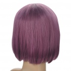 Fashion Synthetic Fiber Short Straight Hair Wigs - Purple