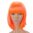 Fashion Synthetic Fiber Short Straight Hair Wigs - Orange Red