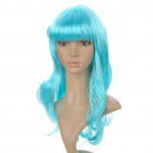 Fashion Synthetic Fiber Long Curly Hair Wigs - Light Blue