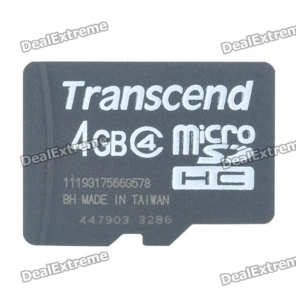 Genuine Transcend Micro SD/TF Memory Card (4GB/Class 4)