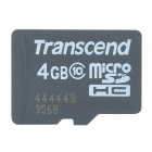 Genuine Transcend Micro SD / TF Memory Card (4GB/Class 10)
