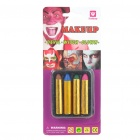 Halloween Costume Pintura Facial Make Up Set Crayons - Vermelho + azul + verde + Café