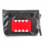 Cute Domo-Kun Pattern Water Resistant Handbag - Brown