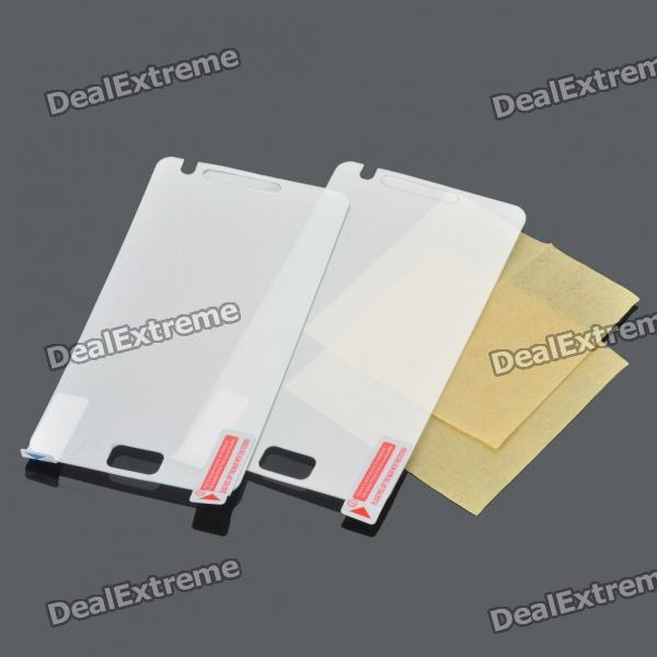 Protective Mirror Screen Guards Protectors w/ Cleaning Cloth for Samsung Galaxy S2/i9100 (Pair)