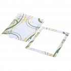 Stylish Abstract Pattern Protective Full Skin Stickers for Ipad 2 - White + Green