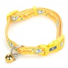 Lindo lona ajustable collar de perro w / Bell (4-Piece/Random Color)