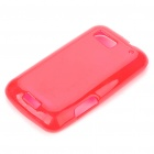 Protective TPU Back Case for Motorola MB525/Defy - Transparent Red