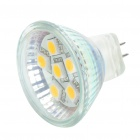 MR11 1W 3500K 80-Lumen 6-5050 SMD LED Warm White Light Bulb (DC 11~18V)