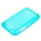 Protective TPU Back Case for Motorola MB525/Defy - Transparent Blue