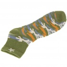 Cotton Socks for Men - Green + Blue + Yellow (Pair)