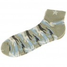 Cotton Socks for Men - Brown + Blue + Yellow (Pair)