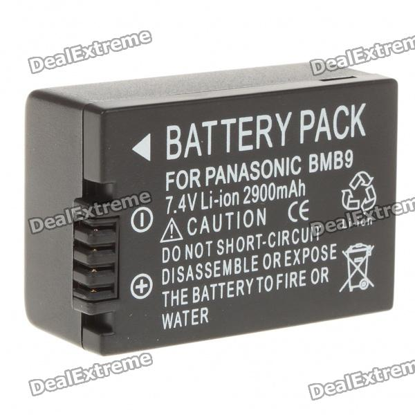 Replacement Rechargeable 2900mAh 7.4V Battery Pack for Panasonic DMC-FZ40/FZ45/FZ48/FZ100 dste replacement 1500mah li ion battery for panasonic dmw bmb9 leica dc9 fz100 fz40 fz48