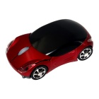 Car Style 2.4GHz Wireless 1200DPI Optical Mouse w/ Receiver - Red + Black (2 x AAA)