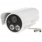 1/3 SONY CCD 1.3MP Surveillance Security Camera w/ 2-LED IR Night Vision - White (DC 12V)