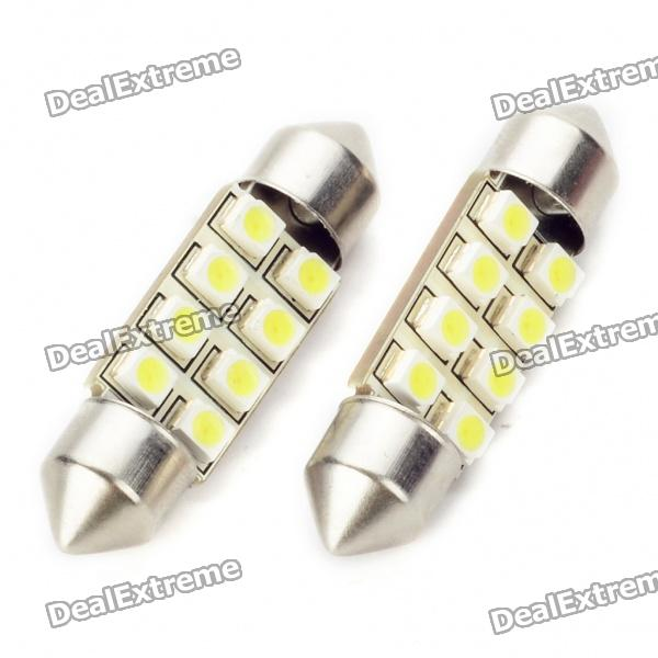 SV85 36mm 0.84W 80LM 8000K 8x3528 White LED Car License Plate/Dome/Tail/Door Light Bulbs (Pair) 2x canbus 3528smd led license plate light number plate lamp car light bulbs for opel vectra c estate 2002 2008 car light source