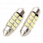 SV85 36mm 0.84W 80LM 8000K 8x3528 White LED Car License Plate/Dome/Tail/Door Light Bulbs (Pair)
