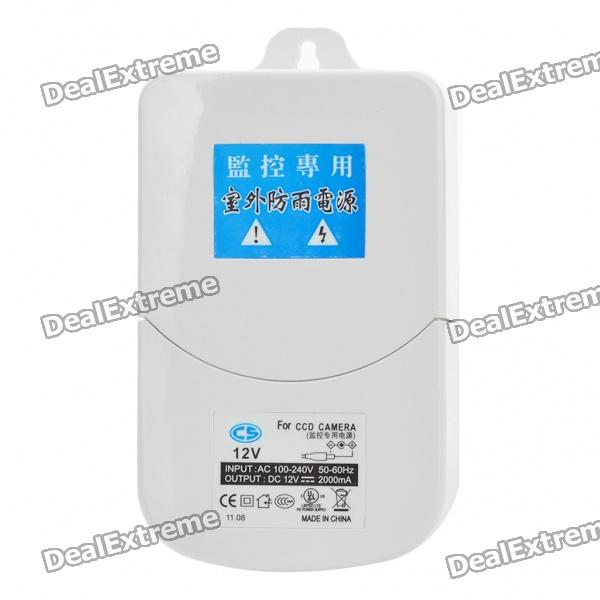 Waterproof AC Power Adapter for Surveillance Security Camera