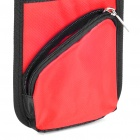 Universal Car Seat Chair Side Multi Pockets Storage Bag - Black + Red