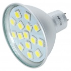 MR16 3W 6500K 240-Lumen 15-5050 SMD LED White Light Bulb (DC 12V)