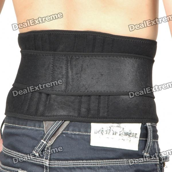 Magnetic Therapy Waist Belt - Black (34~106cm)
