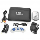 "Portable 7.5"" LCD DVD Media Player with Game/TV/AV-In & Out/SD/USB"