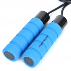 NINJA Weighted Exercise Skipping Jumping Rope - Blue + Black (300cm-Rope)