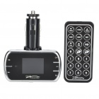 "1.4 ""LCD Auto MP3-Player FM Transmitter w / Remote Controller/USB/SD/TF/3.5mm - Schwarz"