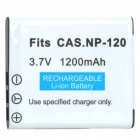 "Replacement NP-120 3.7V ""1200mAh"" Battery for Casio FinePinx F10/F11/603"