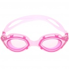 Stylish PC Lens Swimming Goggle Glasses w/ Carrying Box - Purple + Pink